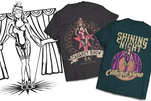 Cabaret T-shirts And Poster Labels