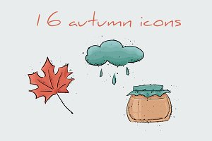 16 autumn icons