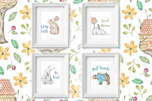 Nursery Art Vol 1: Animal Friends
