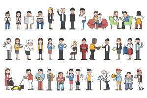 Illustration of various people
