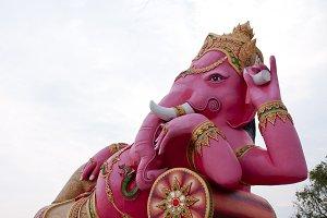 Ganesh statues.