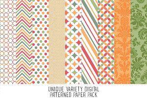 Coral & Mint Pattern Paper Pack - 17