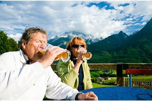 Seniors Having A Drink