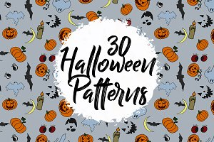 HALLOWEEN BUNDLE. 30 patterns.