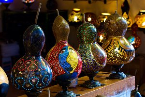 Traditional turkish handmade lamps