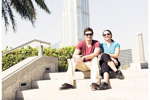 Tourists Sightseeing In Dubai