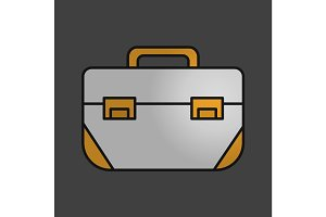 Tool box color icon