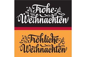 Frohe Weihnacht. German Xmas