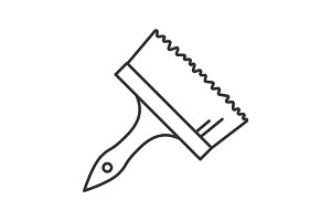 Big paint brush linear icon