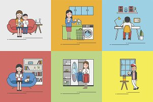 Illustration of home lifestyle