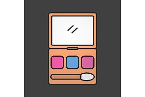 Makeup kit color icon