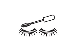 Eye mascara linear icon