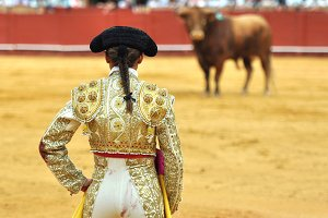 Woman bullfighter