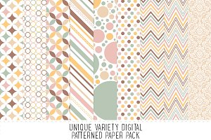 Soft Neutral Pattern Paper Pack - 17