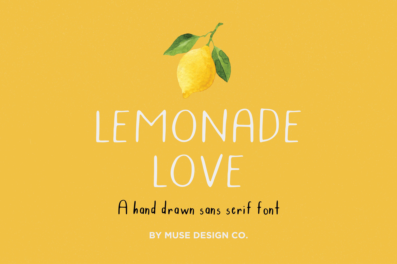 Lemonade Love Sans Serif Fonts Creative Market