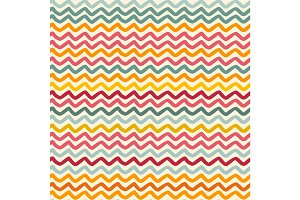 Vector seamless pattern with color wavy lines