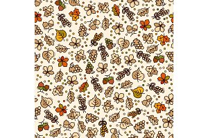 Vector seamless harvest pattern