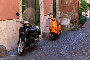 street in Trastevere, Rome, Italy