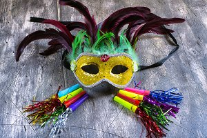 Carnival mask and blower