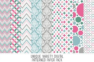 Preppy Pattern Paper Pack - 17
