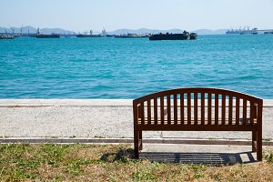 Bench by the sea.