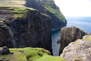 High Cliffs on the Faroe Islands