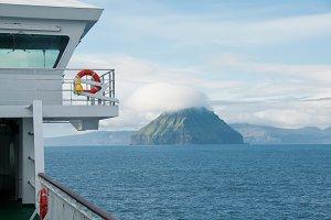 Ferry on the Faroe Islands in Summer
