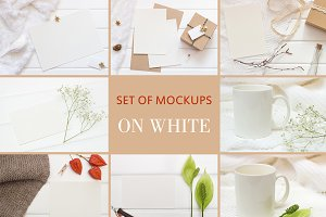 Set Mockups. ON WHITE