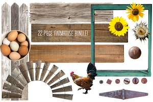 BUNDLE: 22 Farmhouse Elements