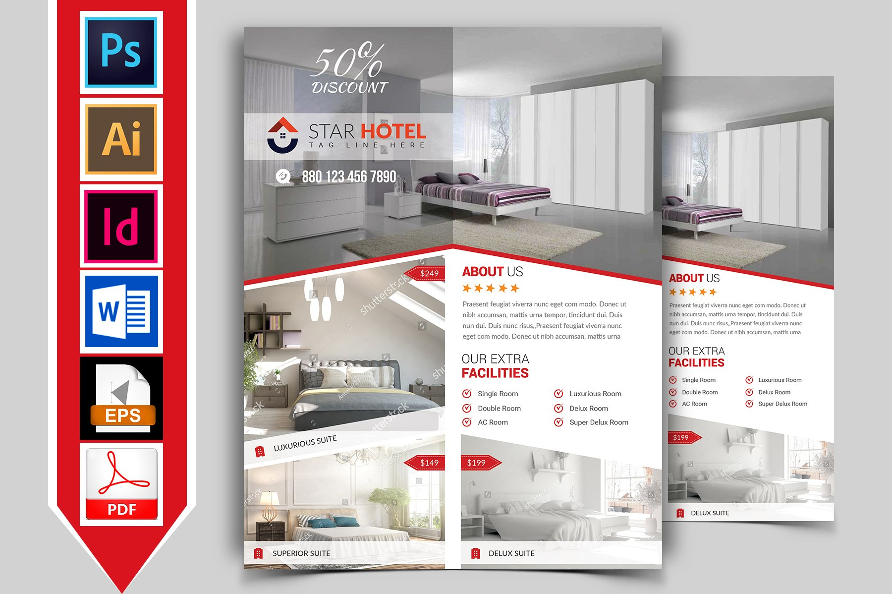 Hotel Flyer Template Vol-05 ~ Flyer Templates ~ Creative Market