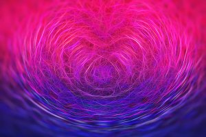 Heart symbol science particles illustration background