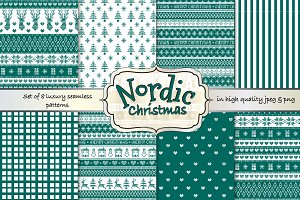 Nordic Christmass seamless patterns