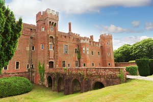 Brick Herstmonceux castle in England East Sussex
