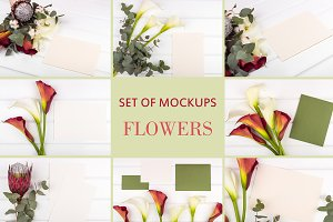 Set Mockups. FLOWERS