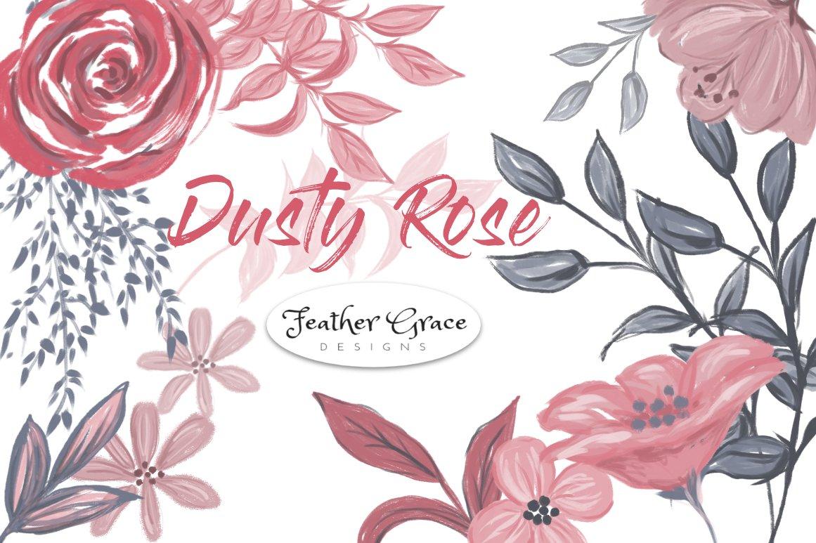 Dusty rose illustrations creative market mightylinksfo