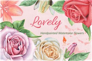 Lovely, Watercolor Flowers