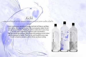 Fish watercolor elements Graphic Set
