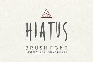 Hiatus Brush Font & Illustrations
