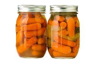 Jars of carrots