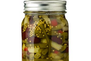 Jar of bean salad