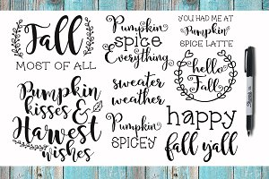 SVG & PNG Fall Quotes