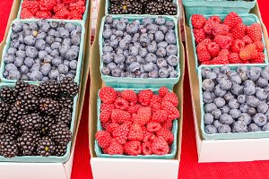 Fresh berries at market