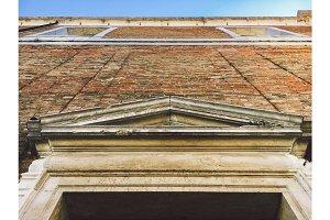 Venice scenic historic old streets architecture. Italian Lagoon