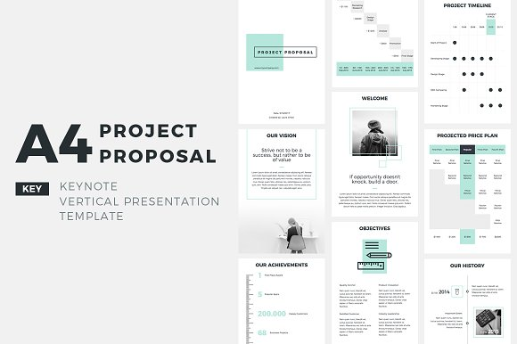 a4 project proposal keynote presentation templates creative market