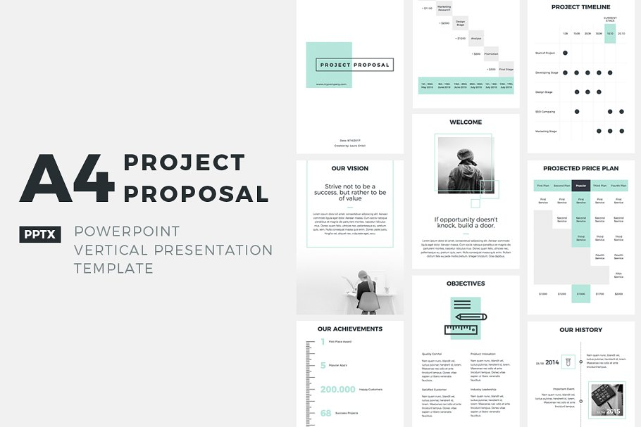 Project Proposal PowerPoint Template ~ PowerPoint Templates