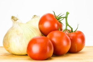Tomatoes and onions