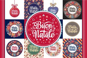 Buon Natale. Xmas template. Bundle