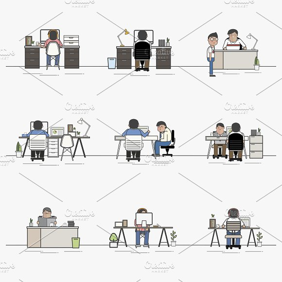 Group business people working vector