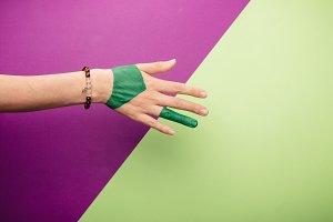 hand bracelet, close up, background