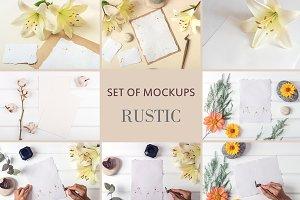 Set Mockups. RUSTIC